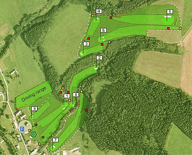 Golfplatzkarte